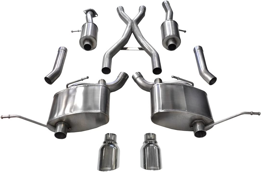 Amazon Com Corsa 14991 Cat Back Exhaust Jeep Grand Cherokee 5 7l V8 Automotive