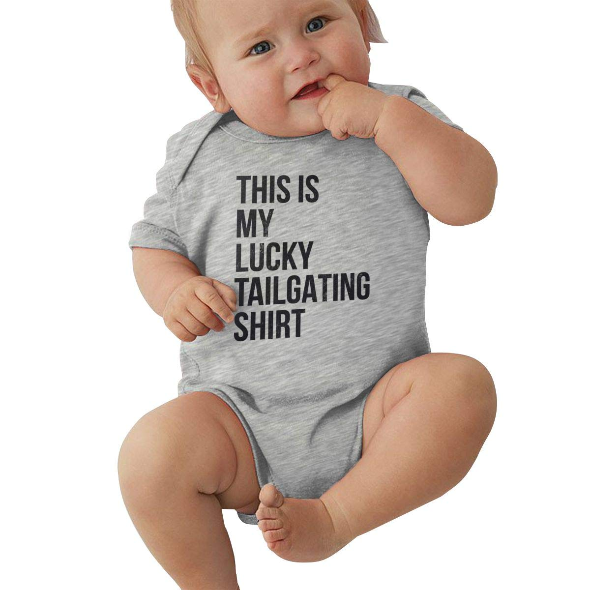 Infant Baby Girls Bodysuit Short-Sleeve Onesie This is My Lucky Tailgating Shirt Print Rompers Autumn Pajamas