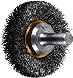 PFERD 82890 Stem Mounted End Crimped Wire Brush, Carbon Steel Wire, 1-1/2'' Diameter.006'' Wire Diameter, 20000 RPM (Pack of 10)