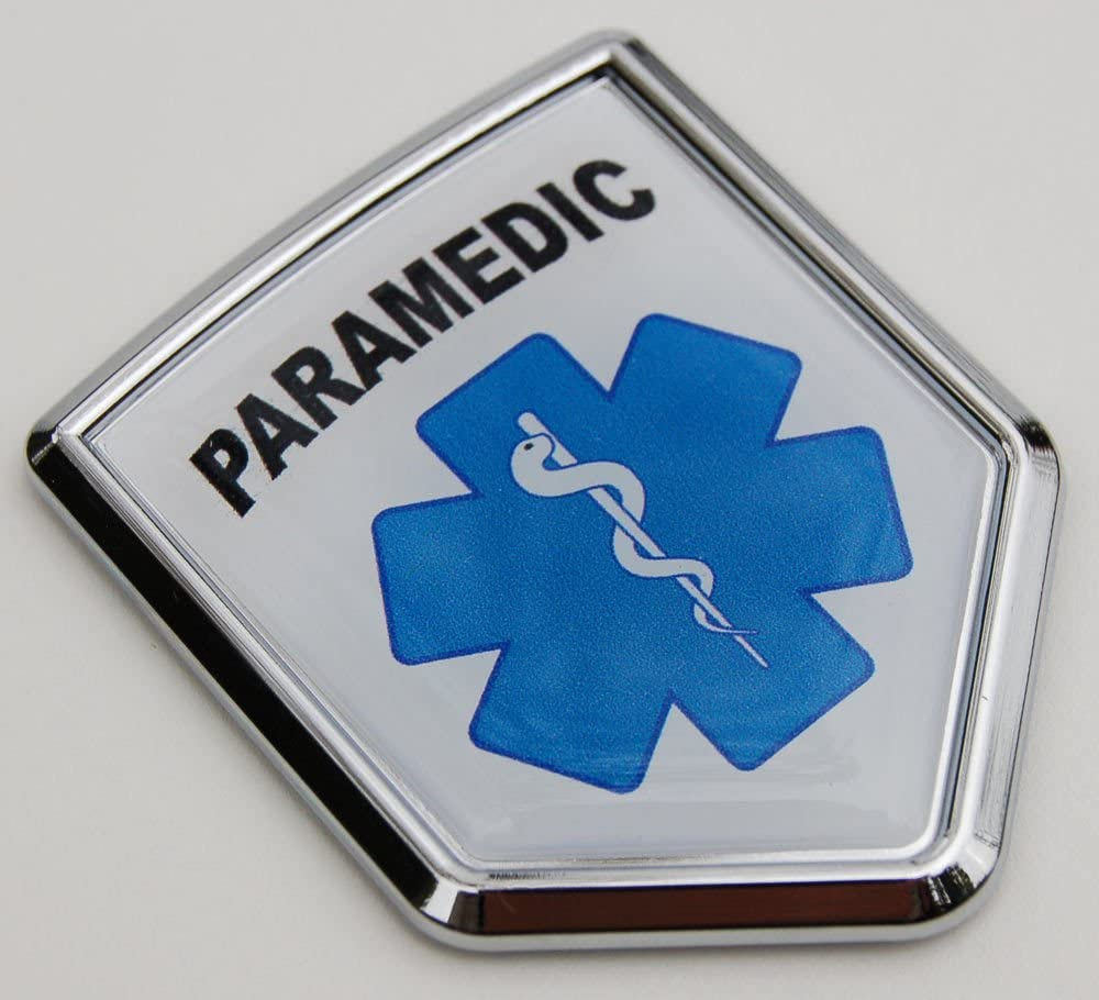 PARAMEDIC EMS METAL BIKE MOTORCYCLE License Plate Frame Holder
