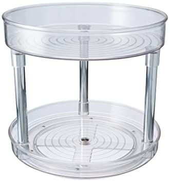 Astonishing Mdesign 2 Tier Lazy Susan Turntable Food Storage Container For Cabinets Pantry Fridge Countertops Spinning Organizer For Spices Condiments 9 Interior Design Ideas Philsoteloinfo