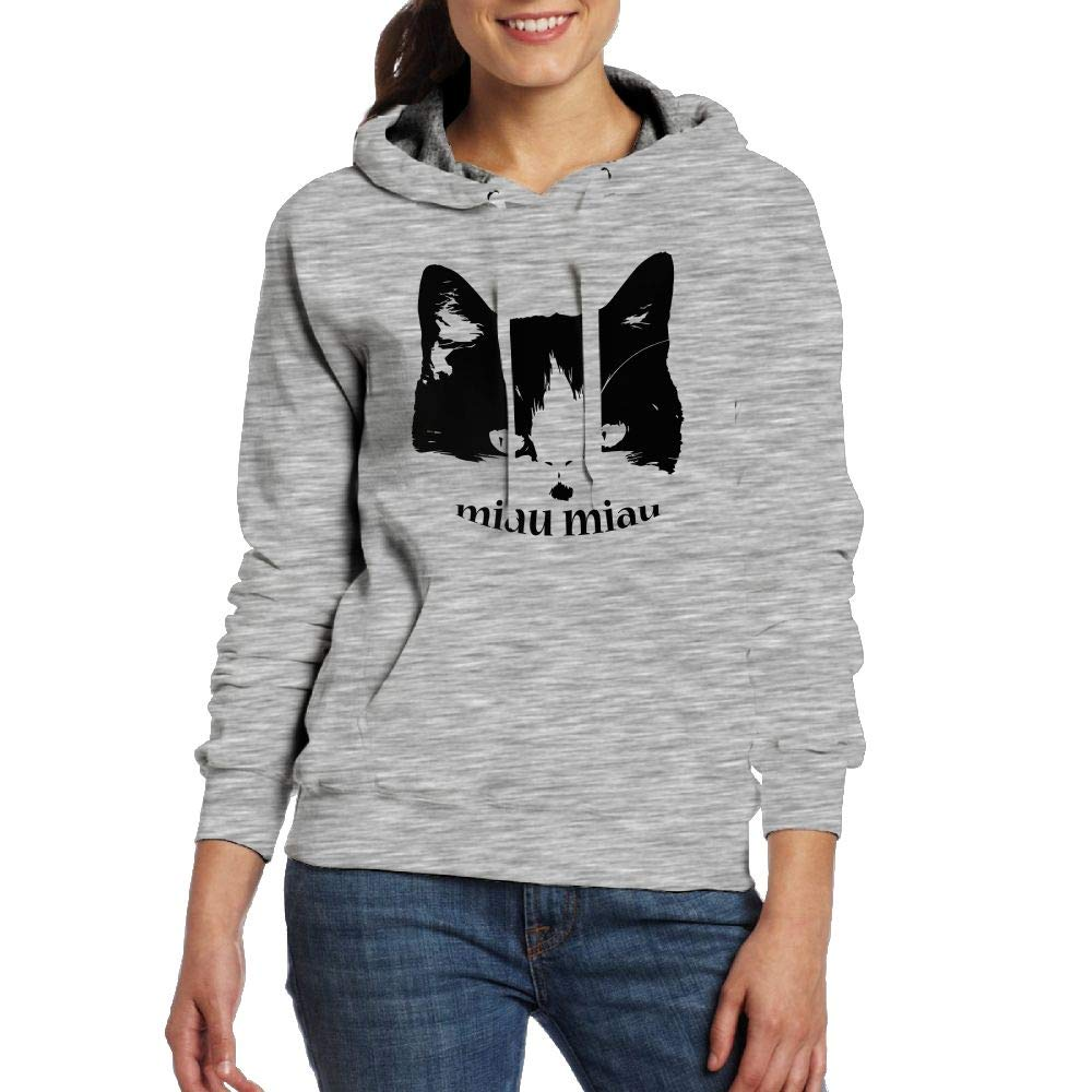 Amazon.com: MIAU MIAU Cat Hoodies Sweatshirt with Pocket for Girls Pullover: Clothing