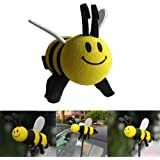 AOWA Car Antenna Toppers Smile Honey Bumble Bee Aerial Ball Antenna Topper.