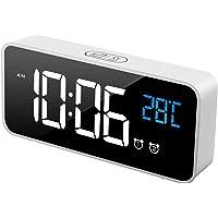 MOSUO Reloj Despertador Digital, LED Despertadores Electrónicos Espejo