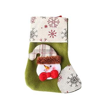 DDG EDMMS Navidad Que cuelgan Medias Calcetines Adornos de Navidad Linda del Partido de Santa Decoraciones de Navidad suministra muñeco de Nieve: Amazon.es: ...