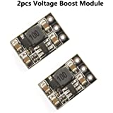 Crazepony 2pcs 500MA 1S Voltage Step Up Boost Module 3.7V in 5V out for Blade Inductris Lipo Battery