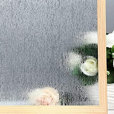 Velimax Rain Glass Film Decorative Rain Glass Window Film Privacy Rain Film Static Cling Window Sticker Removable Anti-UV