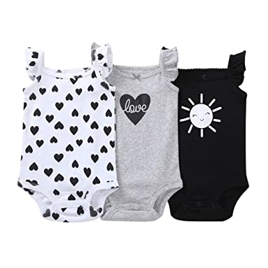 596e4d095 Amazon.com  Hot Sale ! Fineser Baby Girls Romper Infant Carton Print ...