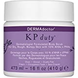 DERMAdoctor KP Duty Dermatologist Formulated Body Scrub Exfoliant for Keratosis Pilaris and Dry, Rough, Bumpy Skin with 10% A