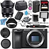 Sony Alpha a6500 Mirrorless Digital Camera (Body) ILCE6500/B + Sony E 10-18mm f/4 OSS Lens SEL1018 + NP-FW50 Replacement Lithium Ion Battery + External Rapid Charger + Deluxe Cleaning Kit Bundle