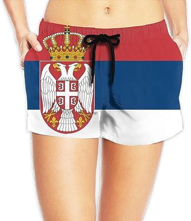 Bulgarian American Half Flag Mens Slim Fit Short Swim Trunks with Side Pockets