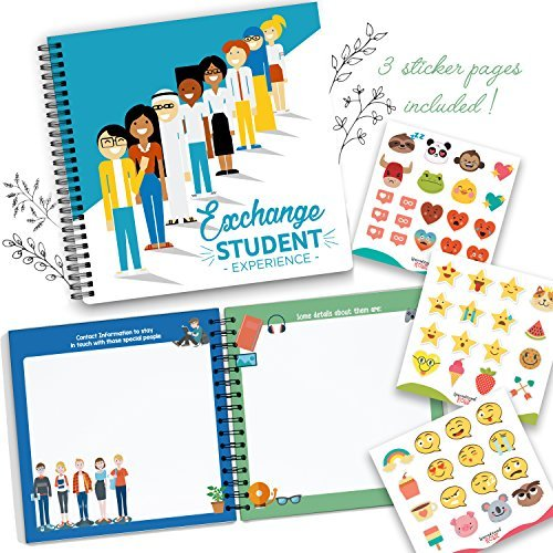 My Exchange Student Experience, 8X8 Hardcover Scrapbook For Documenting Your Experiences Studying Abroad! Special Moments, Delicious Food, People You Met Along The Way, Places Visited And Much More by Unconditional Rosie