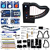 Adeept Laser Piano with Laser Transmitter and photoresistors, Laser Harp Kit for Arduino UNO R3 | STEAM Starter Kit | Arduino Starter Kit with Tutorial