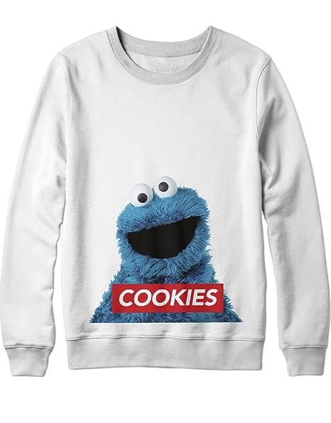 Sweatshirt Cookie Monster Sesame Strees Obey C992382: Amazon.es: Ropa y accesorios