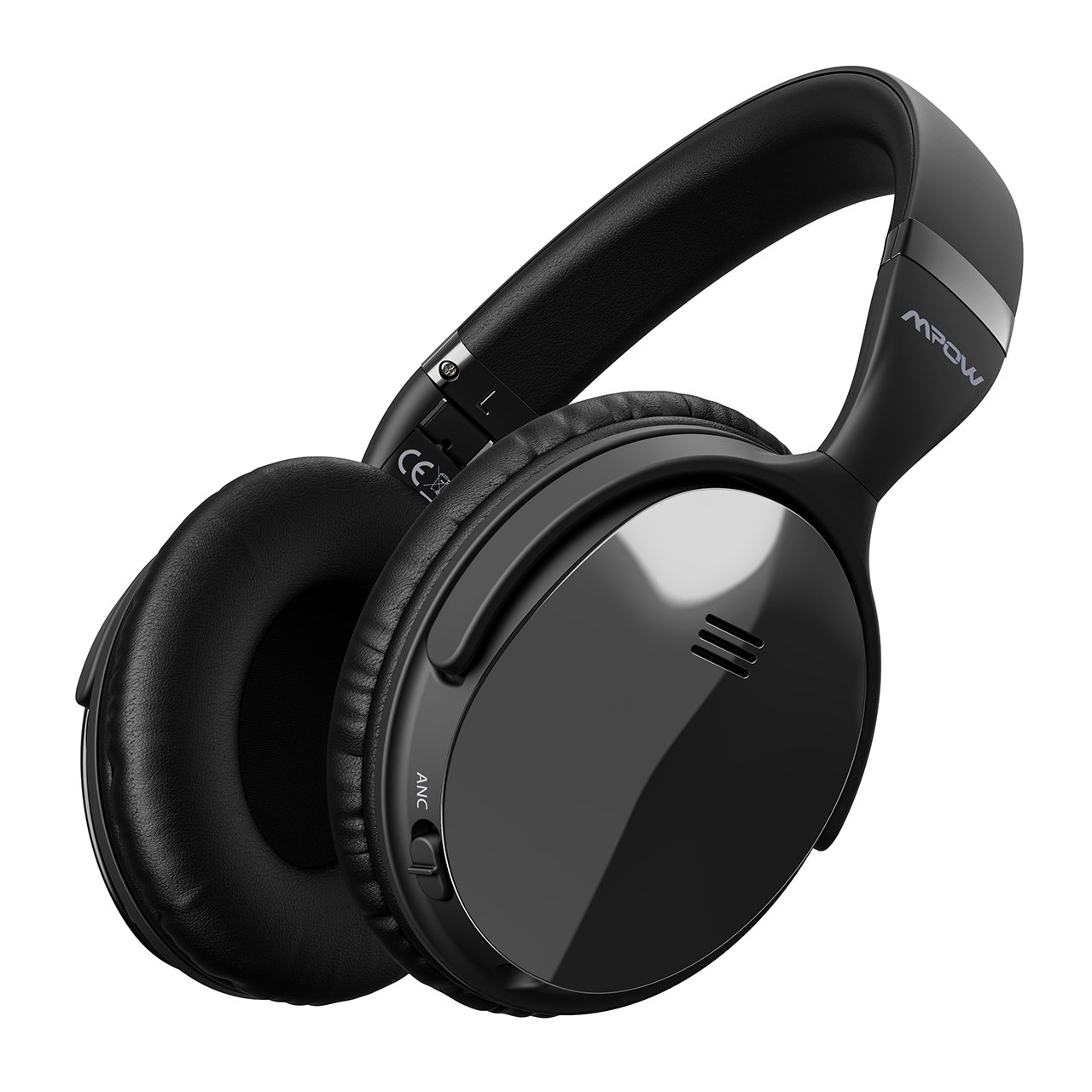 Mpow H5 [2018 Upgrade] Active Noise Cancelling Bluetooth Headphones Microphone Deep Bass Wireless Headphones Over Ear, Comfortable Protein Earpads Travel Work Computer Home