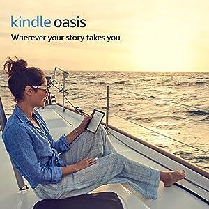 "Kindle Oasis E-reader - 7"" High-Resolution Display (300 ppi), Waterproof, 8 GB, Wi-Fi (International Version)"