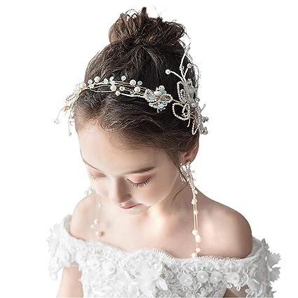 chaussures exclusives info pour beauté Meen Chapeaux De Fille,Bandeau Cheveux Perle Fleur Set ...