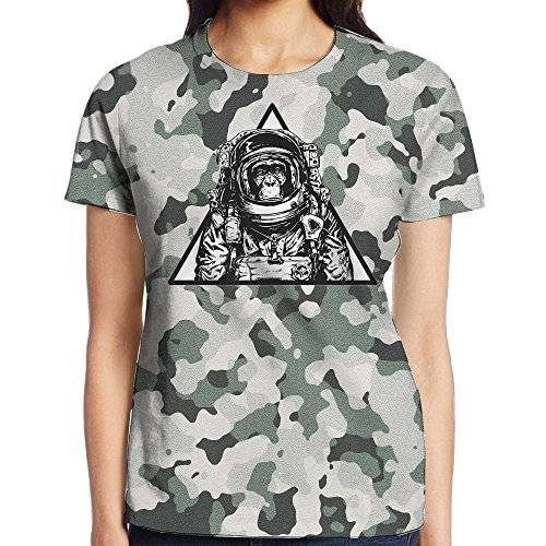 Astronaut Money In A Triangle Frame Adult T-Shirt 3D Printed Short Sleeved - Printed Frames 3d