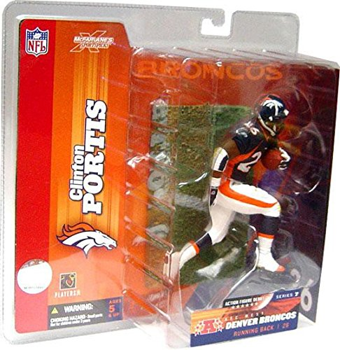 (McFarlane Toys NFL Sports Picks Series 7 Action Figure Clinton Portis (Denver Broncos) Blue)