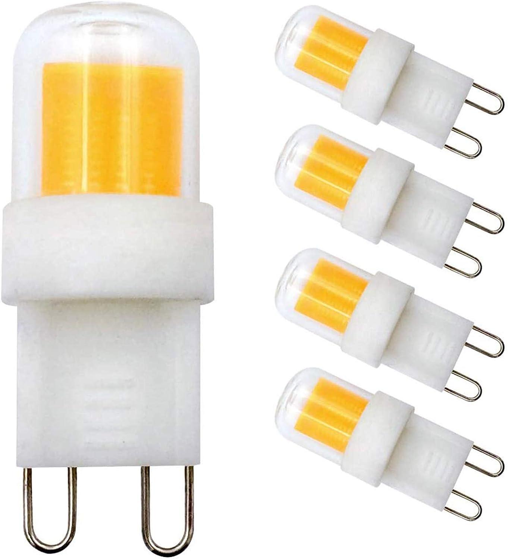 Amazon Com G9 Led Light Bulbs Dimmable G9 Base 4w Equivalent 40w Halogen 300lm Warm White 3000k Ac 110v 120v 130v G9 Bin Pin Base G9 Bulbs For Home Lighting Pack Of 4 Home Improvement