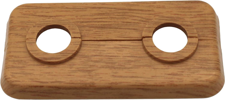 12mm bis 18mm 2-teilig Heizung Heizk/örper Eiche PP mit Holz-Dekor: Ahorn Abdeckung Buche 5 ST/ÜCK Doppel-Rosette f/ür Heizungsrohre 18mm, Ahorn - Dekor f/ür Laminat und Parkett