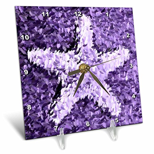 3dRose dc_43966_1 Painted Purple Starfish- Beach Themed A...