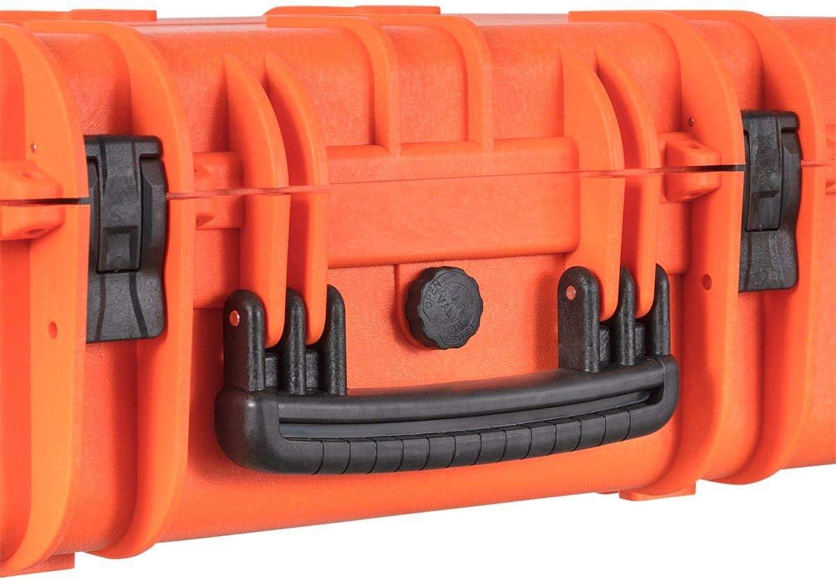 22 x 14 x 8 in Orange Monoprice Pure Outdoor Weatherproof Hard Case with Customizable Foam