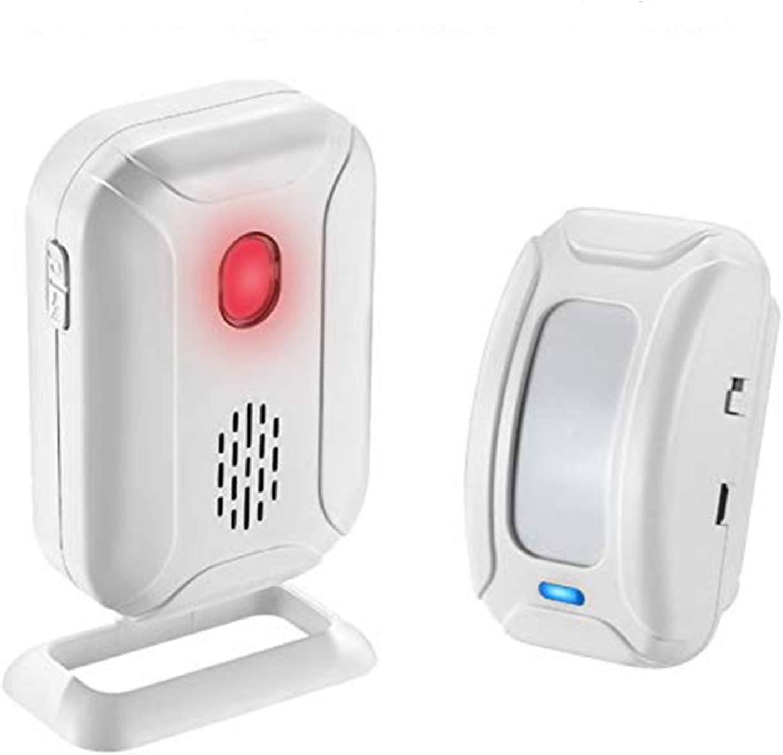 SuperInk 1 Set (1 Sensor,1 Alarm) Muti-Function Wireless Welcome Warning Greeting Doorbell PIR Motion Detector Sensor Visitor Alarm Chime Door Bell Infrared Security Smart Entry Alert System Kit