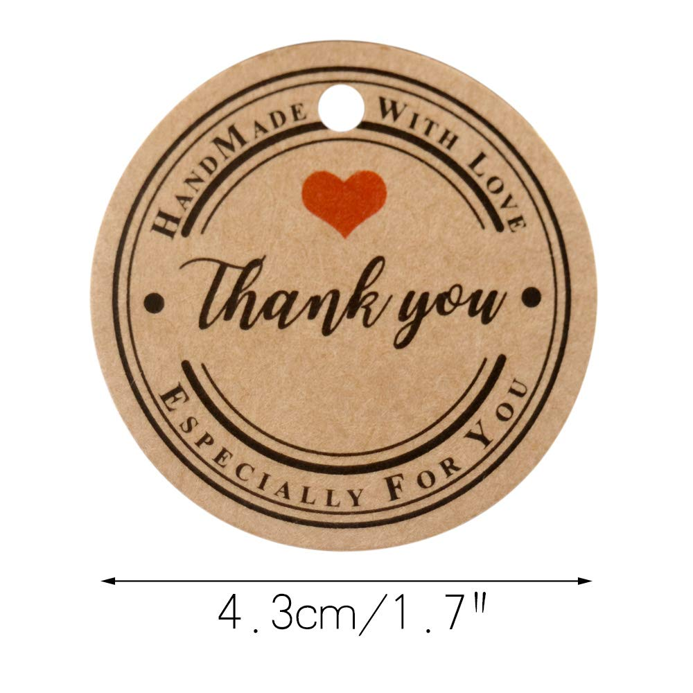 Christmas Thanksgiving Kraft Paper Gift Tags with 100 Feet Jute Twine for Arts and Crafts,Wedding G2PLUS 100 PCS White Gift Tags with String Paper Hang Tags Thank You Tags