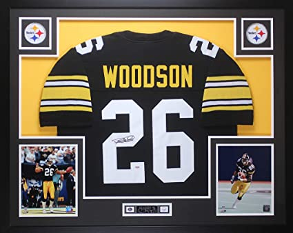 new styles f4f10 aeac8 Rod Woodson Autographed Black Steelers Jersey - Beautifully ...