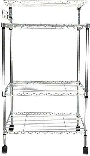 FCH Bakers Rack 3 Tiers Adjustable Storage Rack