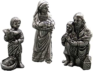 product image for DANFORTH - Innkeeper Family Pewter Nativity Set - Made in USA - Gift Boxed