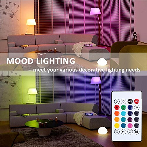 KAILAKE LED Wireless Light Bulb Speaker-RGB Sm Music 2018 New Design Instagram 5000+Likes with Stereo Audio Smart 7W E27 Changing Lam Lamp+24 Keys Remote Control by KAILAKE (Image #5)'