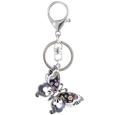 Amazon.com: Luckeyui - Llavero con mariposa esmaltada para ...