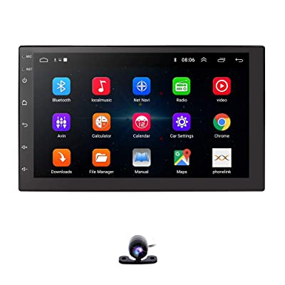 Android 10 Universal 7 Inch Touch Screen Car GPS Car Radio Stereo Bluetooth WiFi Car Navigation Steering Wheel Control OBD Rear Backup Camera: Car Electronics