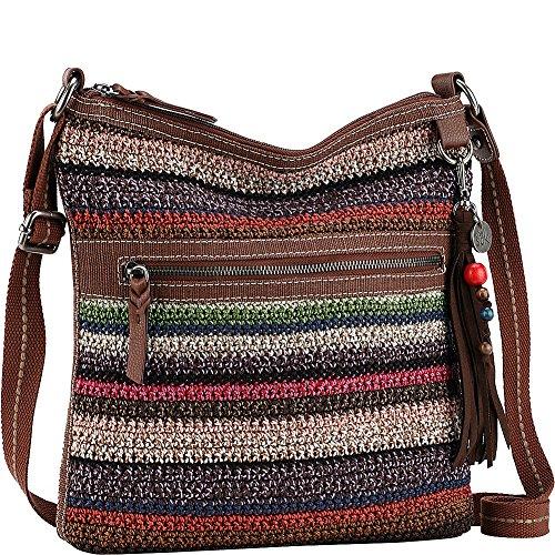 (The Sak Women's Lucia Crochet Crossbody Vagabond Stripe Crossbody Bag)