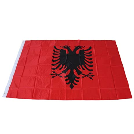 Amazoncom Iuhan Fashion Albania Flag Double Headed Eagle - Albania flag