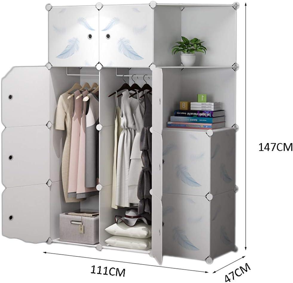 Portable Wardrobe Convenient Resin Simple Wardrobe Bedroom Modular