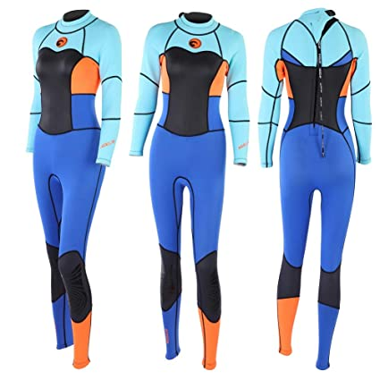 30900d8ec8a1f Vbestlife Women Wetsuit, Fashionable Neoprene Wetsuit UV Protection Long  Sleeves One-Piece Swimming Suit Warm Scuba Snorkeling Swimming Women Long  Sleeve ...