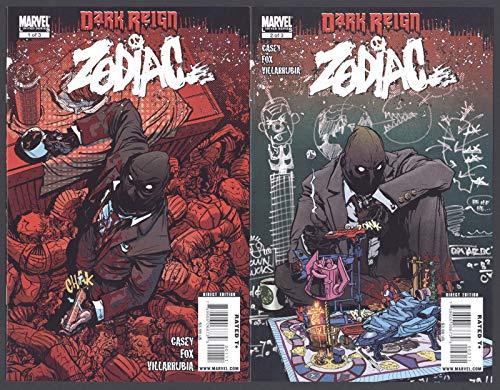 Zodiac #1-3 Dark Reign Near Mint Complete Set Full Run Marvel Comics 2009 CBX36