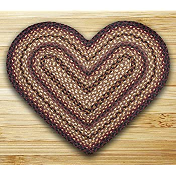 "Earth Rugs 10-371 Hc-371 Heart Shaped Rug, 20 by 30"", Black Cherry/Chocolate/Cream"