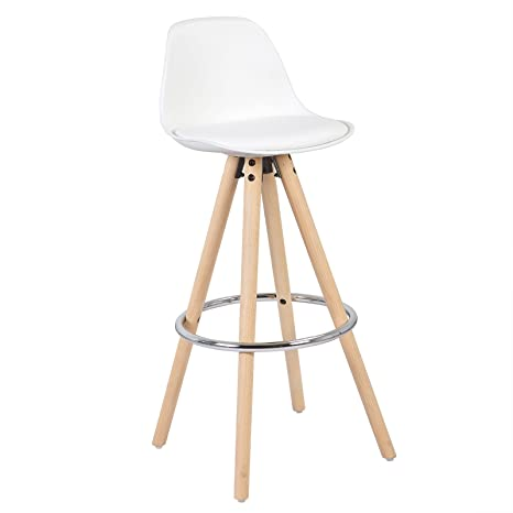Cool Woltu Breakfast Kitchen Counter Chair Bar Chair Bar Stool Wood Barstools White Evergreenethics Interior Chair Design Evergreenethicsorg