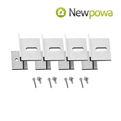 Newpowa Universal Z Bracket Mount - Flat Surface - Single Panel Up to 5-75w : Garden & Outdoor