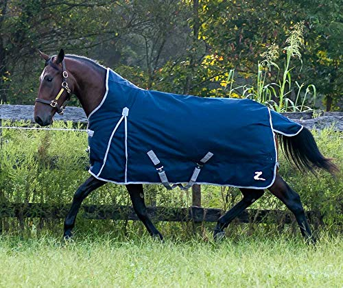 Horze Thunder High Neck 1200 Denier Waterproof Medium Heavy Weight Turnout - 300g (Medium Weight Turnout)
