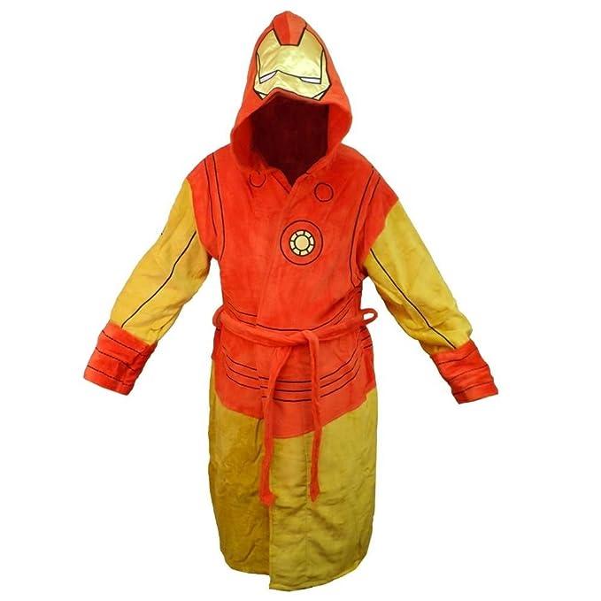 Iron Man con capucha para hombre del traje Albornoz: Amazon ...