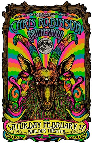 Original 2018 Concert Poster Chris Robinson The Black Crowes Boulder Theater Boulder, CO 11 x 17 inches on Card Stock