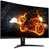 "AOC C32G1 32"" Widescreen VA LED Black/Red Curved Monitor (1920x1080/1ms/VGA/2xHDMI/DP)"