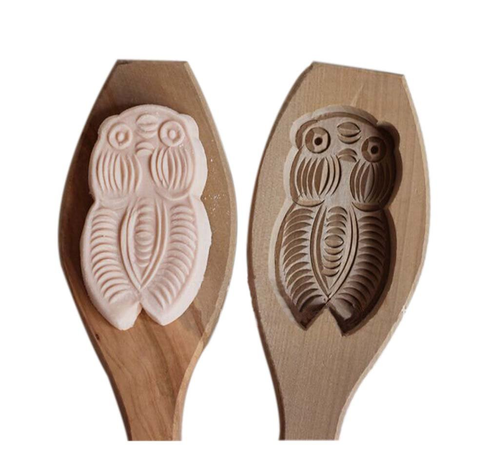 PANDA SUPERSTORE Dessert Baking Molds/Wooden Carving Baking Molds, Cicadas(7.541cm) PS-HOM289680-KARY00998