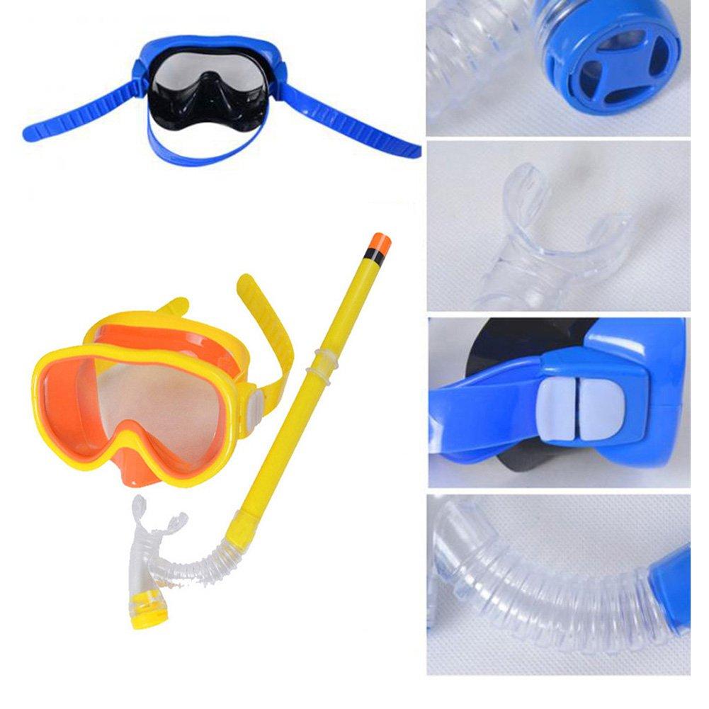 Kid Snorkel Set Silicona Scuba Child Swimming Snorkeling M/áscara Gafas con antivaho Goggles Buceo Swim Cap Swim Bag para ni/ños y ni/ñas