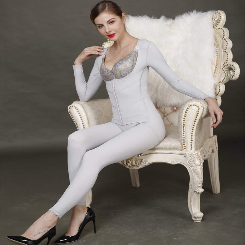 Siamese Corset Postpartum Abdomen Women's Underwear Long Sleeve Trousers Abdominal Body Slimming Large Size
